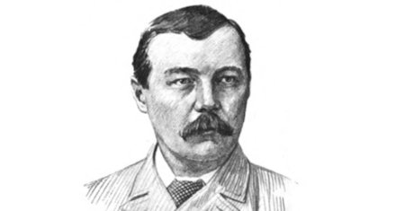 Illustration of Arthur Conan Doyle