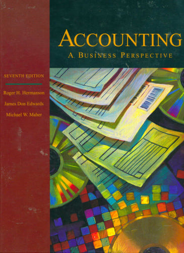 Large book cover: Accounting Principles: A Business Perspective, Managerial Accounting