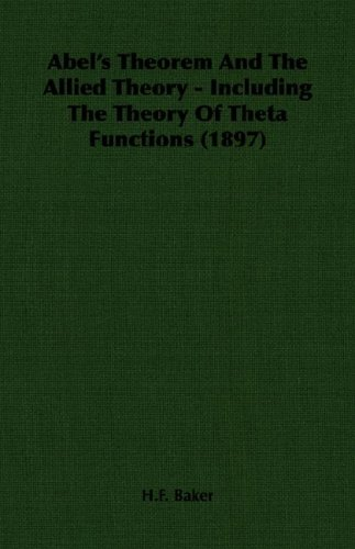 Large book cover: Abel's Theorem and the Allied Theory