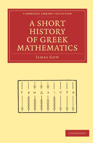 Large book cover: A Short History of Greek Mathematics