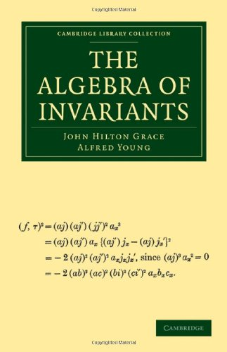Large book cover: The Algebra of Invariants