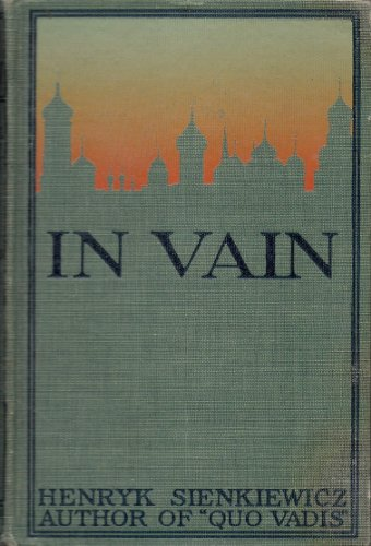 Large book cover: In Vain
