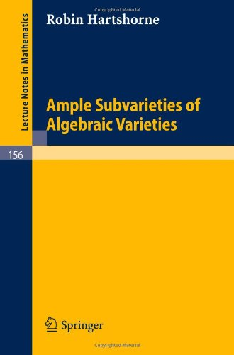 Large book cover: Ample Subvarieties of Algebraic Varieties