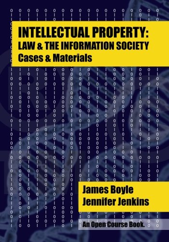 Large book cover: Intellectual Property: Law and the Information Society