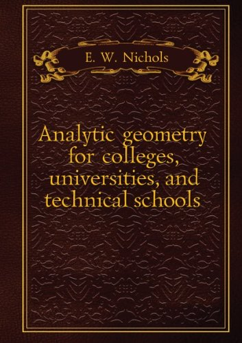 Large book cover: Analytic geometry for colleges, universities, and technical schools