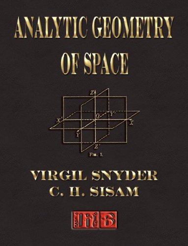 Large book cover: Analytic Geometry of Space