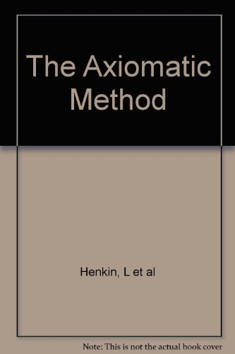 Large book cover: The Axiomatic Method