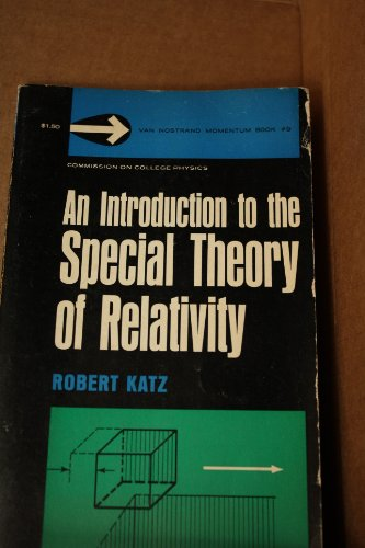 Large book cover: An Introduction to the Special Theory of Relativity