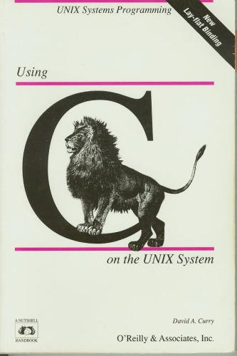 Large book cover: Using C on the UNIX System