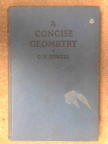 Large book cover: A Concise Geometry