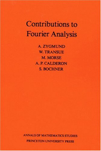 Large book cover: Contributions to Fourier Analysis