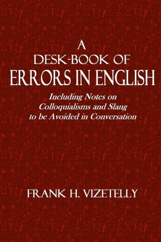 Large book cover: A Desk-Book of Errors in English