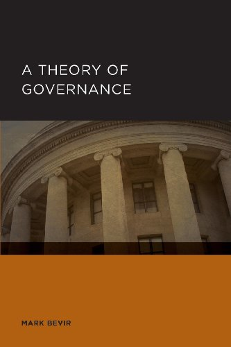 Large book cover: A Theory of Governance