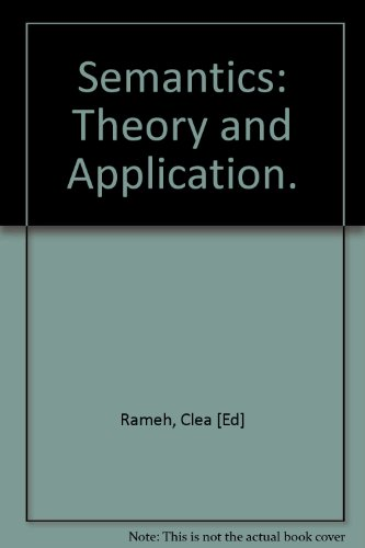 Large book cover: Semantics: Theory and Application