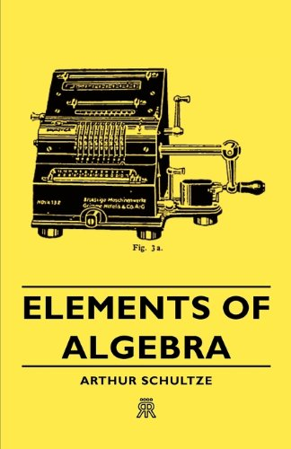 Large book cover: Elements of Algebra