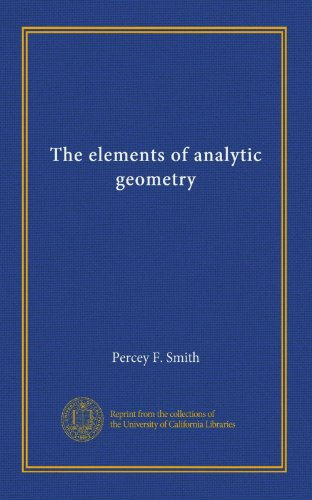 Large book cover: The Elements of Analytic Geometry