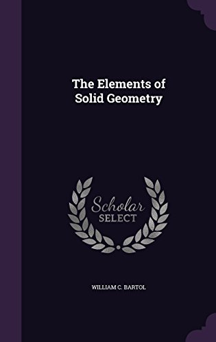 Large book cover: The Elements of Solid Geometry