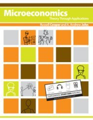 Large book cover: Microeconomics: Theory Through Applications