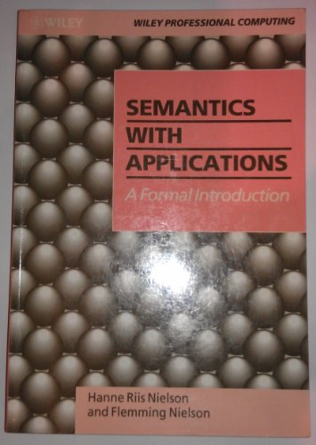Large book cover: Semantics With Applications: A Formal Introduction