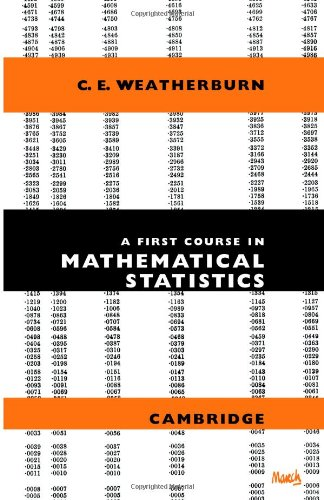 Large book cover: A First Course In Mathematical Statistics