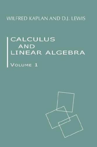 Large book cover: Calculus and Linear Algebra. Vol. 1