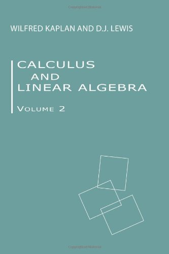 Large book cover: Calculus and Linear Algebra. Vol. 2