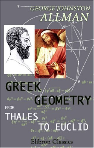 Large book cover: Greek Geometry from Thales to Euclid