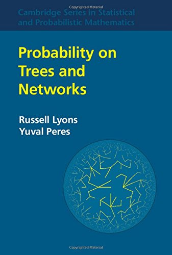 Large book cover: Probability on Trees and Networks