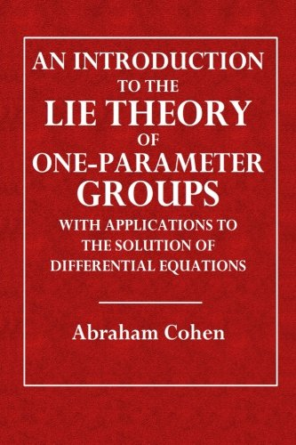 Large book cover: An Introduction to the Lie Theory of One-Parameter Groups