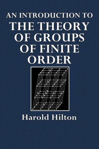 Large book cover: An Introduction to the Theory of Groups of Finite Order