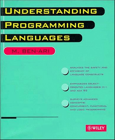 Large book cover: Understanding Programming Languages