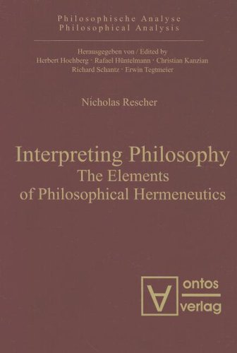 Large book cover: Interpreting Philosophy: The Elements of Philosophical Hermeneutics