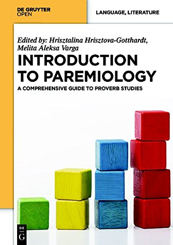 Large book cover: Introduction to Paremiology: A Comprehensive Guide to Proverb Studies