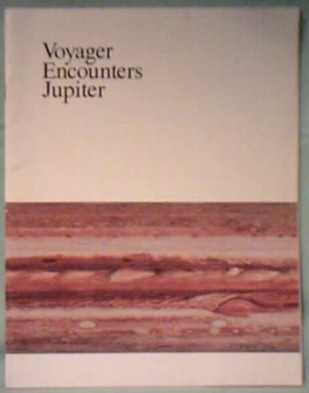 Large book cover: Voyager Encounters Jupiter