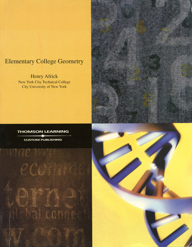 Large book cover: Elementary College Geometry
