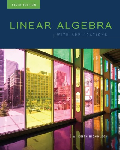 Large book cover: Linear Algebra with Applications