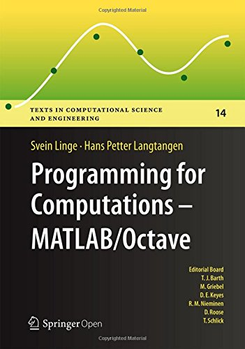 Large book cover: Programming for Computations - MATLAB/Octave