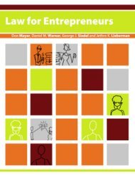 Large book cover: Law for Entrepreneurs