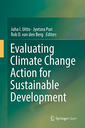 Large book cover: Evaluating Climate Change Action for Sustainable Development