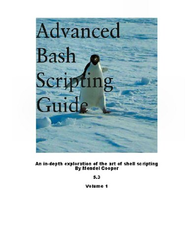 Large book cover: Advanced Bash-Scripting Guide