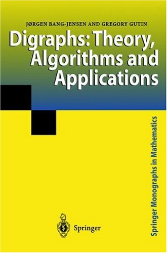 Large book cover: Digraphs: Theory, Algorithms and Applications