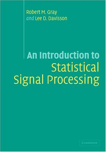 Large book cover: An Introduction to Statistical Signal Processing