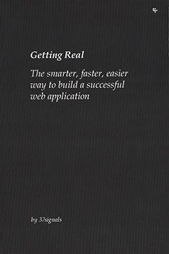 Large book cover: Getting Real: The Smarter, Faster, Easier Way to Build a Successful Web Application