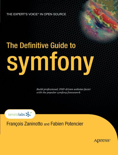 Large book cover: The Definitive Guide to symfony
