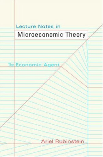 Large book cover: Lecture Notes in Microeconomic Theory: The Economic Agent