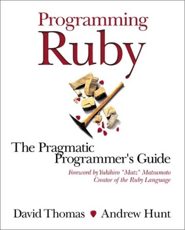 Large book cover: Programming Ruby: The Pragmatic Programmer's Guide