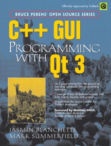 Large book cover: C++ GUI Programming with Qt 3