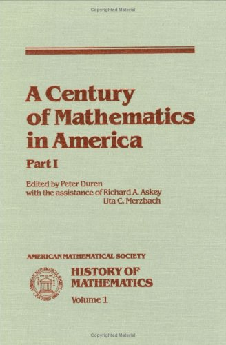 Large book cover: A Century of Mathematics in America