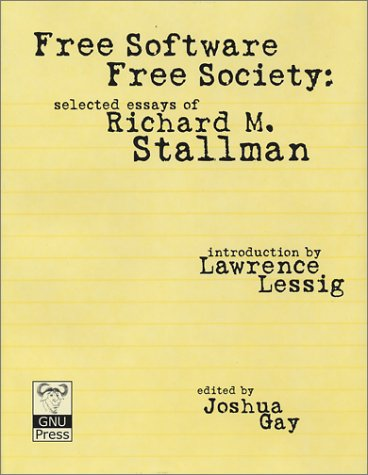 Large book cover: Free Software, Free Society