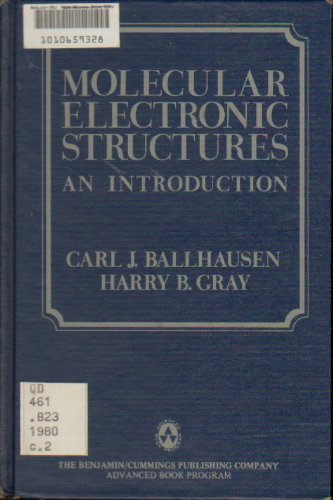 Large book cover: Molecular Electronic Structures: an introduction